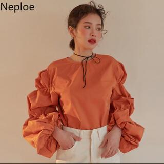 ヴィンテージ   オレンジ シャツ(シャツ/ブラウス(半袖/袖なし))