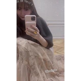 スナイデル(snidel)の新品未使用★正規品Lace-Trimmed Satin Cami Dress (ロングワンピース/マキシワンピース)