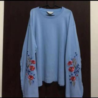 Jieda - 早い者勝ち!jieda ジエダ  flower embroideryTシャツ