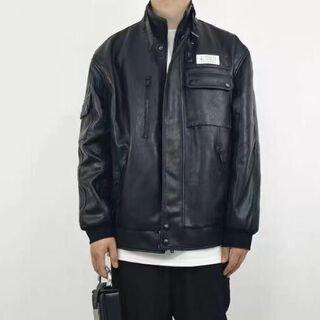 Maison Martin Margiela ブラック メンズ レザージャケット