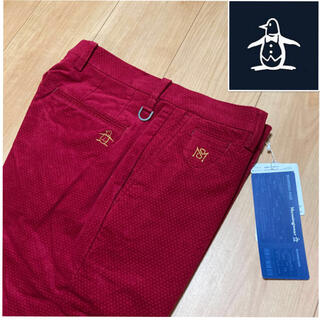 マンシングウェア(Munsingwear)の88新品定価22000円/マンシングウェア/メンズ/ロングパンツ/秋冬/レッド(ウエア)