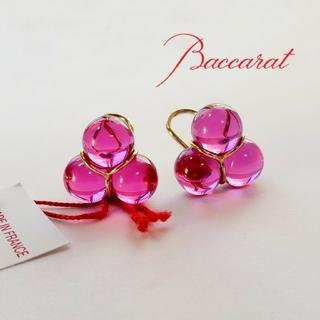 バカラ(Baccarat)のバカラ k18 ピンク イヤリング(イヤリング)