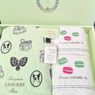 ラデュレ(LADUREE)の新品 ラデュレ タオル ギフトセット ギフトチャーム 犬(タオル/バス用品)