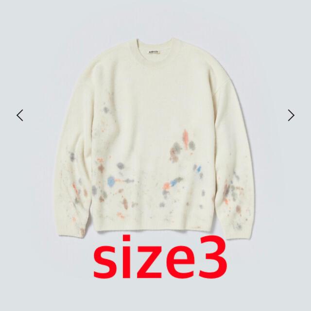 COMOLI(コモリ)のオーラリー カシミヤニット size3 メンズのトップス(ニット/セーター)の商品写真