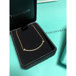 Tiffany & Co. - ティファニー Tスマイル ダイヤネックレス スモール イエローゴールド
