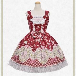 BABY,THE STARS SHINE BRIGHT - Heart Marguerite〜心に秘めた愛〜柄ジャンパースカートI型 赤