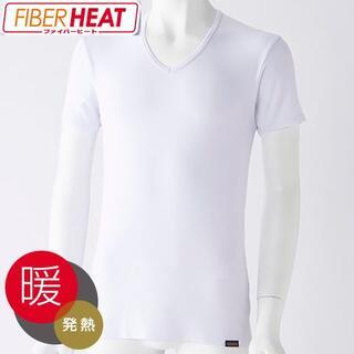 シマムラ(しまむら)の【しまむら × FIBER HEAT】半袖V首シャツ(その他)