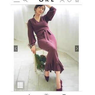 GRL - GRL グレイル 田中みなみ着用 ニットワンピース