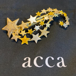 acca - 美品☆acca☆アッカ☆カエルピン☆保存袋付き☆星  スター☆アンティーク調