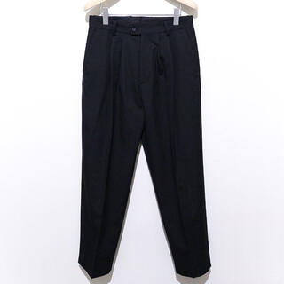 COMOLI - stein WIDE TAPERED TROUSERS BLACK 20aw S