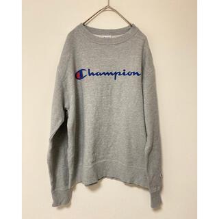 Champion - チャンピオン スウェット トレーナー グレー 長袖 XL 刺繍 古着