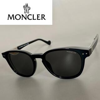 MONCLER - モンクレール ブラック グレー メタル サングラス メンズ レディー 黒 銀