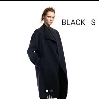Jil Sander - ユニクロ ジルサンダー カシミヤブレンドノーカラーコート ブラック S
