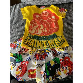 ジャム(JAM)のJAM★スパイダーマン半袖Tシャツとスカパンセット★90★ワンピース★グラグラ(その他)