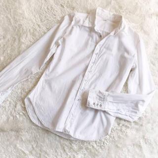 45rpm - 匿名配送❤︎ 45rpmの白シャツ ブラウス コットン 100% シンプル 長袖