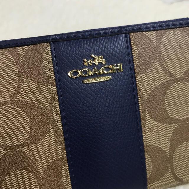 COACH(コーチ)の在庫処分‼️COACH コーチ シグネチャー 長財布 アコーディオン ネイビー レディースのファッション小物(財布)の商品写真