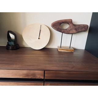 アクタス購入 無垢 ウォールクロック 天然木 掛け時計 置時計(掛時計/柱時計)