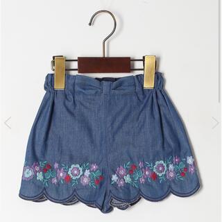 アナスイミニ(ANNA SUI mini)のアナスイミニ スカラ刺繍短パン 150サイズ(パンツ/スパッツ)