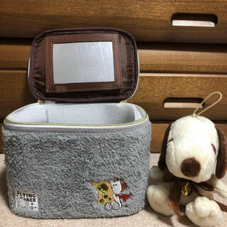 SNOOPY - 【新品未使用】スヌーピー バニティケース 2 グレー ぬいぐるみ
