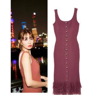 herlipto Fringe Summer Knit Dress