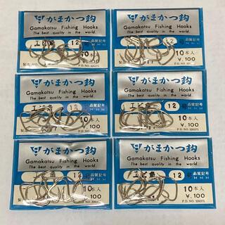 ガマカツ(がまかつ)のがまかつ製 エビ角 12号 6袋セット(釣り糸/ライン)