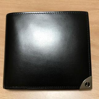 ダンヒル(Dunhill)のDUNHILL メンズ二つ折財布(ブラック)(折り財布)