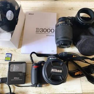 Nikon - Nikon D3000 ダブルレンズキット SDカード付き