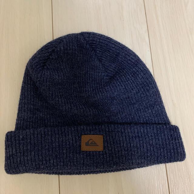 QUIKSILVER(クイックシルバー)のクイックシルバー ニット帽 美品 メンズの帽子(ニット帽/ビーニー)の商品写真