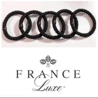 アッカ(acca)のFrance luxe フランスラックス ポニーテールチューブ ブラック 5本(ヘアゴム/シュシュ)