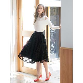 Chesty - ★5%offクーポンご利用可★新品♡チェスティ チュール刺繍スカート 1サイズ