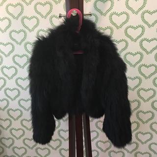 ストロベリーフィールズ(STRAWBERRY-FIELDS)のストロベリーフィールズ フォックスファー黒コート(毛皮/ファーコート)
