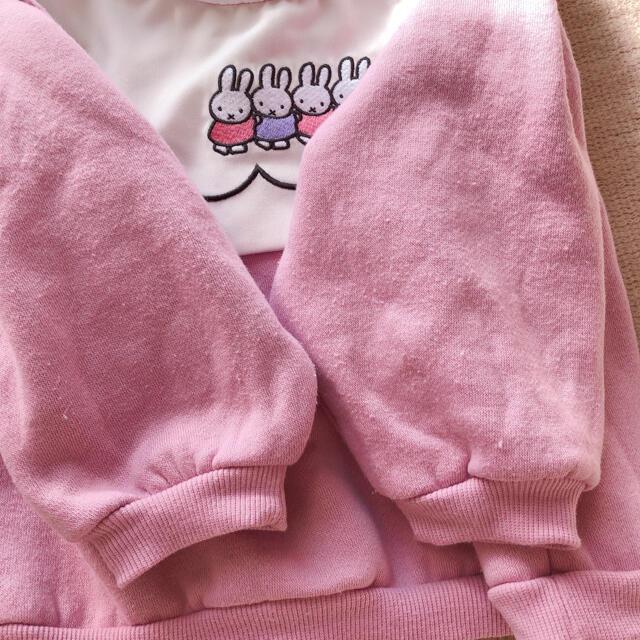 しまむら(シマムラ)のミッフィー 裏起毛刺繍トレーナー キッズ/ベビー/マタニティのベビー服(~85cm)(トレーナー)の商品写真