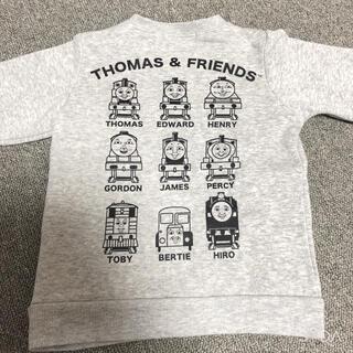 シマムラ(しまむら)のトーマスフレンズ ペイズリー柄ポケット 裏起毛トレーナー 90(Tシャツ/カットソー)