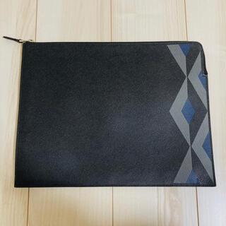 ダンヒル(Dunhill)のダンヒル dunhil クラッチバッグ セカンド BK 黒 型押 カドガン 革(セカンドバッグ/クラッチバッグ)