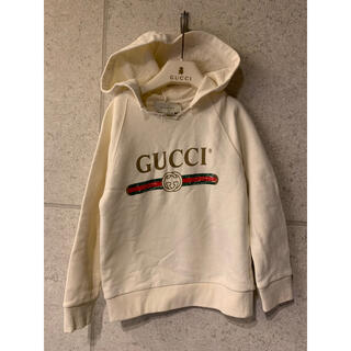 グッチ(Gucci)のGUCCI グッチ チルドレン キッズ スウェットパーカー 4 クリーム色(ジャケット/上着)