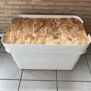 無印良品 頑丈収納ボックス サイズ大 天板 テーブル キャンプ アウトドア