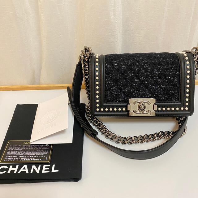 CHANEL(シャネル)のパールツイード  ボーイシャネル レディースのバッグ(ショルダーバッグ)の商品写真