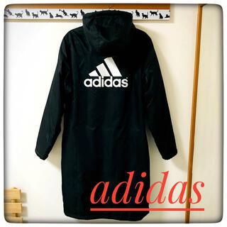 adidas - 【未使用品】adidas(アディダス)★ベンチコート/ロングコート★黒×白M★