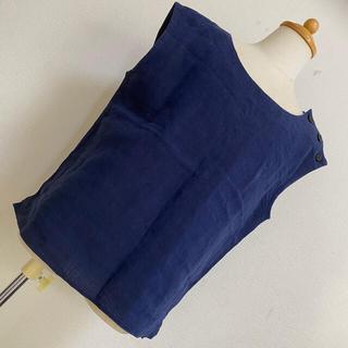 マーガレットハウエル(MARGARET HOWELL)のMARGARET HOWELL リネン 麻 シャツ ブラウス(シャツ/ブラウス(半袖/袖なし))