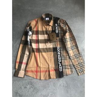 BURBERRY - BURBERRY チェック コットン ポプリンシャツ