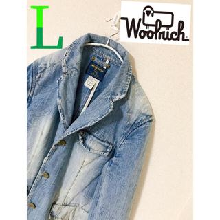 ウールリッチ(WOOLRICH)の【レア古着】メンズ デニムジャケット Gジャン ウールリッチ  L 大人気!(Gジャン/デニムジャケット)