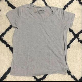 ムルーア(MURUA)のMURUAムルーア VネックTシャツ グレー 半袖【美品】(Tシャツ(半袖/袖なし))