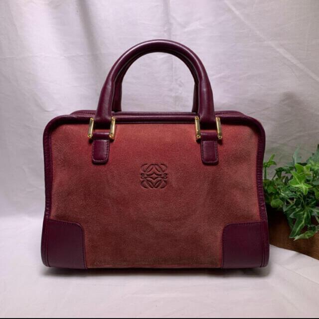 LOEWE(ロエベ)のLOEWE✨ロエベ アマソナ スエード ハンドバッグ レディースのバッグ(ハンドバッグ)の商品写真