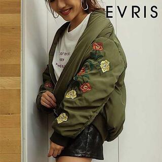エヴリス(EVRIS)の【EVRIS×須田アンナ】EmbroideryリバーシブルMA-1 カーキ(ブルゾン)