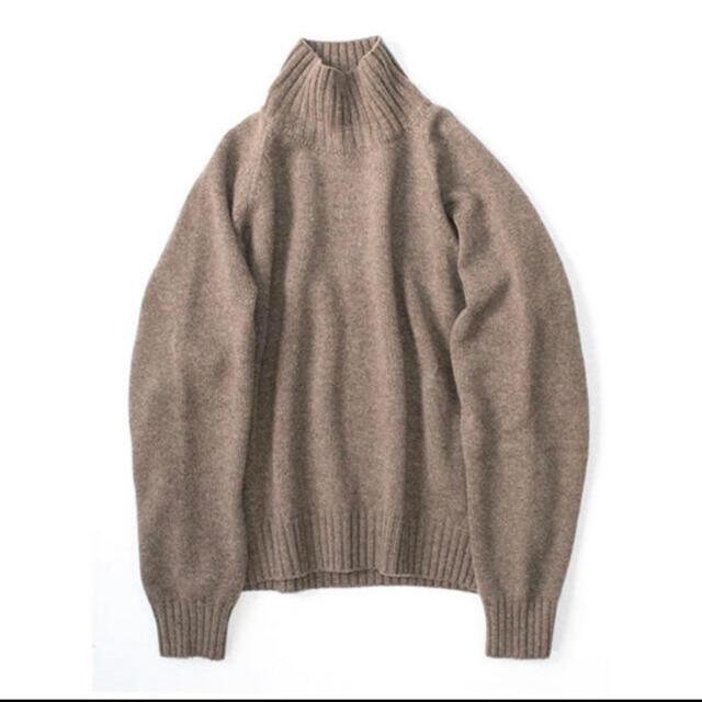 SUNSEA(サンシー)のstein 20aw ハイネックニット モカ メンズのトップス(ニット/セーター)の商品写真