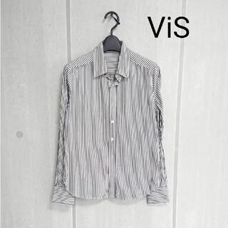 ViS - ViS ストライプシャツ
