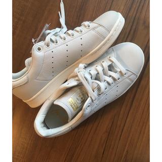 adidas - 【新品】アディダス スタンスミス プレミアム 白 23.5センチ B37900