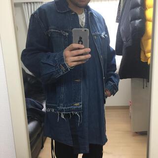アンユーズド(UNUSED)の古着 リメイク ロングシャンブレー シャツ(シャツ)