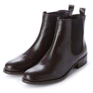 イエナ(IENA)の新品 定価約18000円PUPE 本革サイドゴア ショートブーツ ダークブラウン(ブーツ)