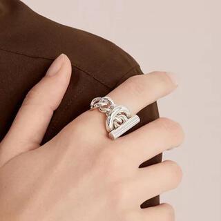 ロンハーマン(Ron Herman)のクロワゼット風 マンテルチェーンリング シルバー (リング(指輪))